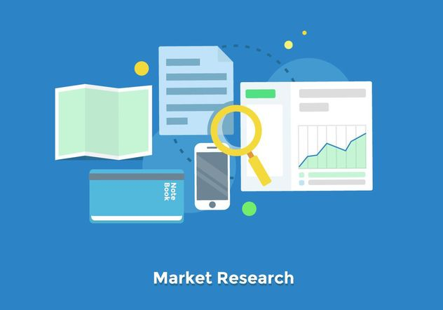 Marktforschung-flach-Vektoren - Kostenloses vector #205115