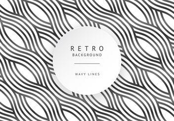 Retro Wavy Lines - vector gratuit #205135