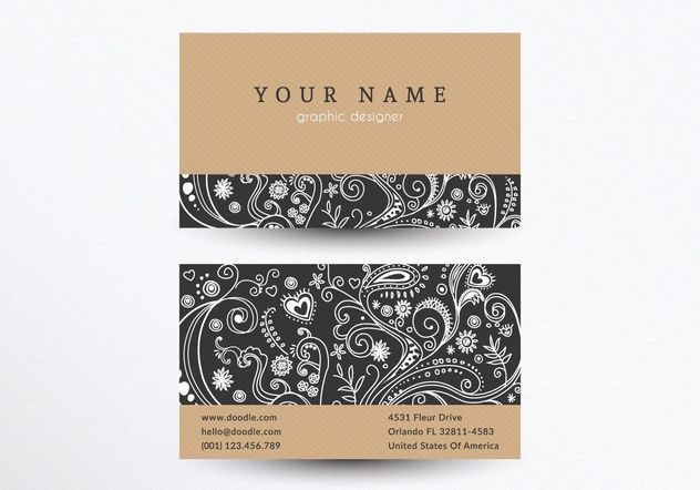 Creative Business Card Template - Free vector #205155
