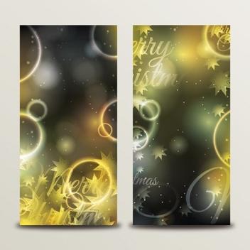 Christmas Bokeh Banners - Free vector #205265