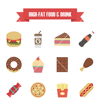 Free 121hi fat food white vector - vector #205305 gratis