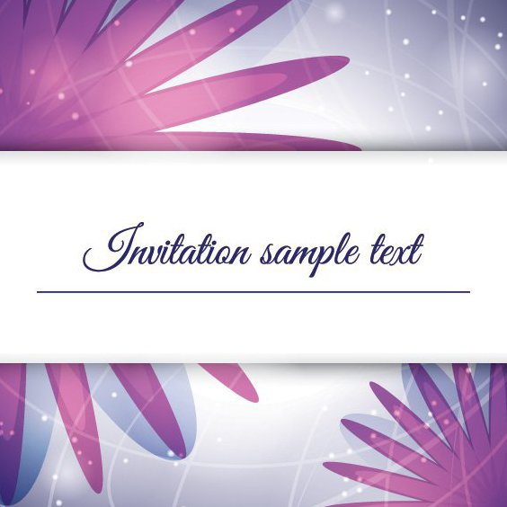 Purple Invitation - Free vector #205395