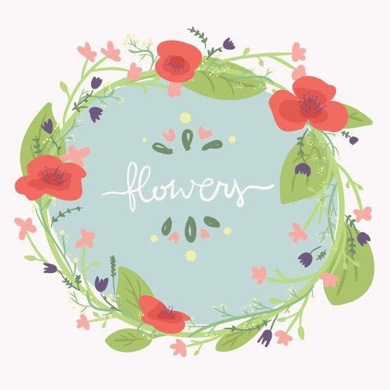 Bandeira de flores - Free vector #205415