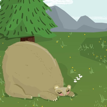 Sleepy Bear - vector gratuit #205435