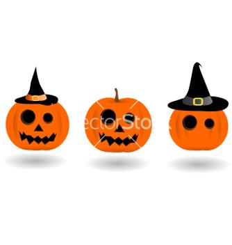Free halloween pumpkin icon set vector - Free vector #205455