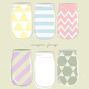 Mason Jars - vector #205635 gratis