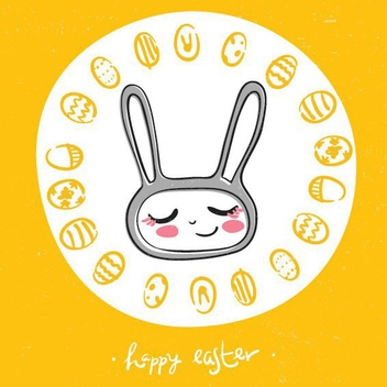Easter Doodle - Free vector #205735