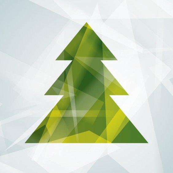 Modern Christmas Tree - Free vector #206005