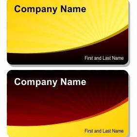Solar Business Card - vector gratuit #206275