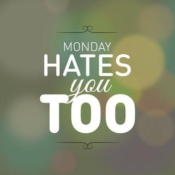 Mondays - vector gratuit #206295