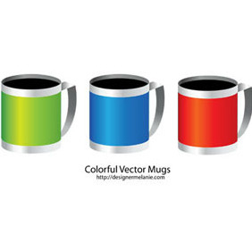 Free Colorful Mug Vector - vector gratuit #206335