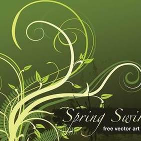 Spring Swirls - vector gratuit #206495