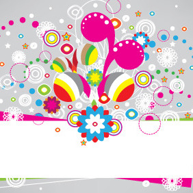 Abstract Banner With Colorful Elements - Free vector #206715