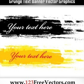 Grunge Text Banner Vector Graphics - Free vector #206815
