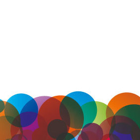Colorful Circles Vector Background - Free vector #206835