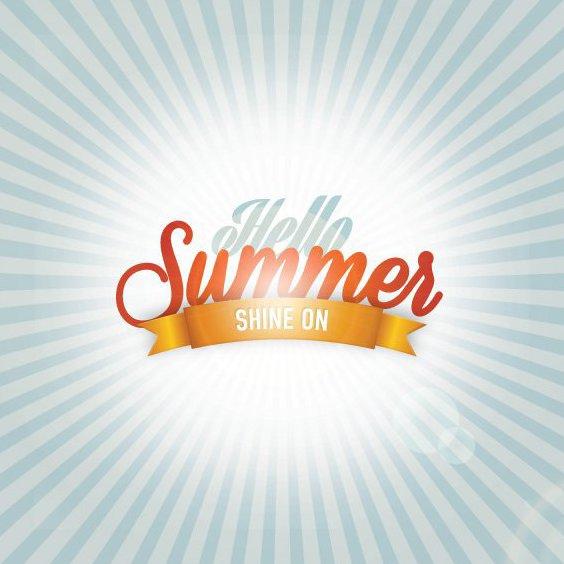 Здравствуй лето - бесплатный vector #206935
