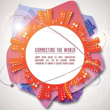 Connecting The World - vector #206945 gratis