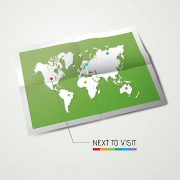 Travel Map - vector gratuit #207025