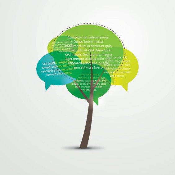 Árbol que habla - vector #207065 gratis