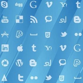 Social Media Pattern - Free vector #207185