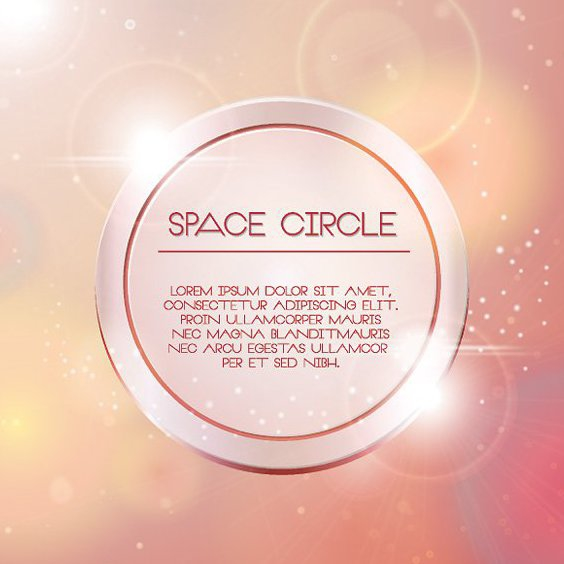 Space Circle - Free vector #207245