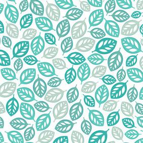Blue Leaf Pattern - Free vector #207295