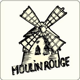 Vector Moulin Rouge - Kostenloses vector #207315