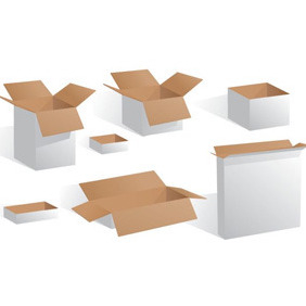 Blank White Boxes - vector gratuit #207615