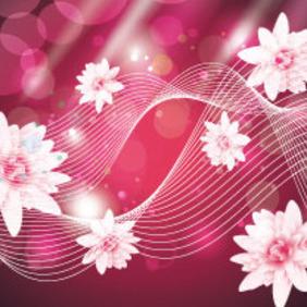 Super Pink Flowers Beauty Art Vector - Kostenloses vector #207625