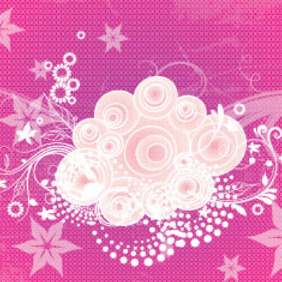 Purple Grunge Flowers Art Graphic - vector gratuit #207655