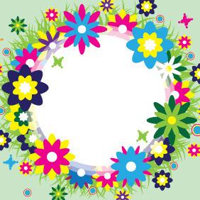 Spring Wreath Vector - Kostenloses vector #207795