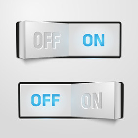 On Off Buttons - vector gratuit #207805