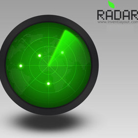 Radar Icon PSD - vector gratuit #207865