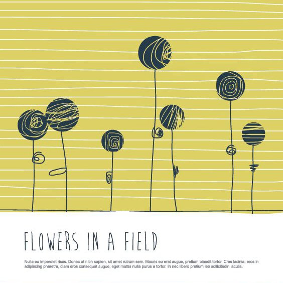 Flowers In A Field - Free vector #207935