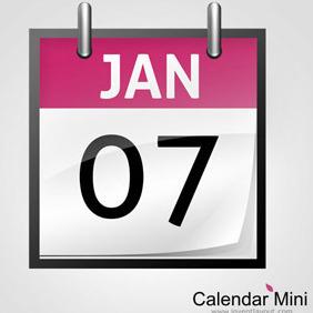 Calendar Mini - vector gratuit #208165