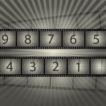 Film Reel Countdown - Free vector #208225