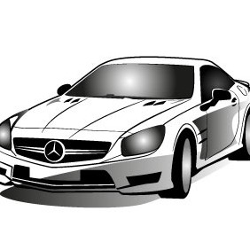 Mercedes Car Vector Image - Free vector #208235