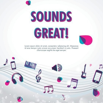 Sounds Great - vector gratuit #208475