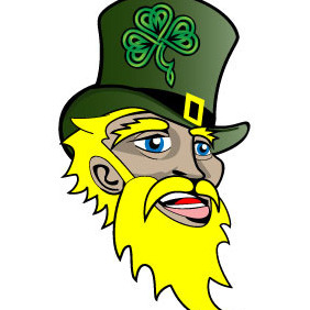St. Patrick's Irish Face - vector gratuit #208705
