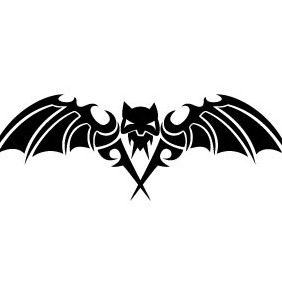Scary Bat Vector - vector gratuit #208735