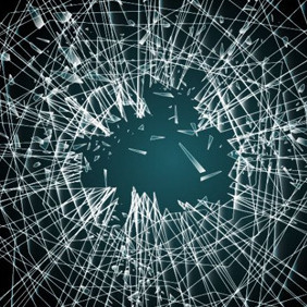 Shattered Glass Illustration - Free vector #208765