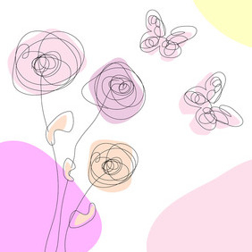 Spring Scribble Free Vector - Free vector #208865