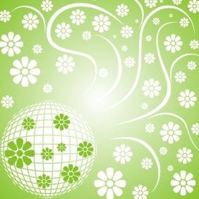 Floral Disco Ball - Free vector #208875