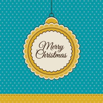 Retro Christmas Card - vector gratuit #208905