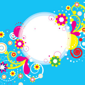 Abstract Flower Banner Design - vector #208935 gratis