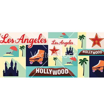 Free travel and tourism icons los angeles vector - Free vector #208995