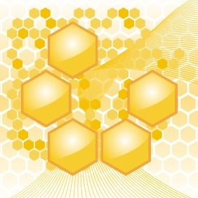 Honey Background - vector gratuit #209075