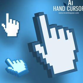 Hand Cursor Ai - Free vector #209125