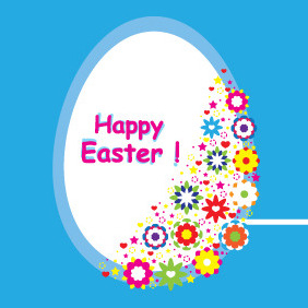 Easter Egg Banner Design - Free vector #209235