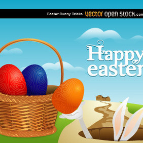 Easter Bunny Tricks - vector gratuit #209245